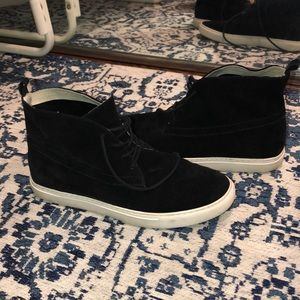 Kenneth Cole Black Suede High Top Sneaker